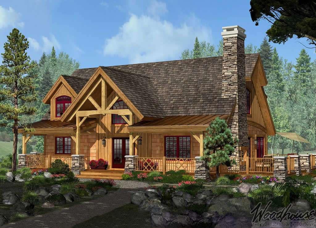 Adirondack cottage woodhouse the timber frame company for Adirondack house plans