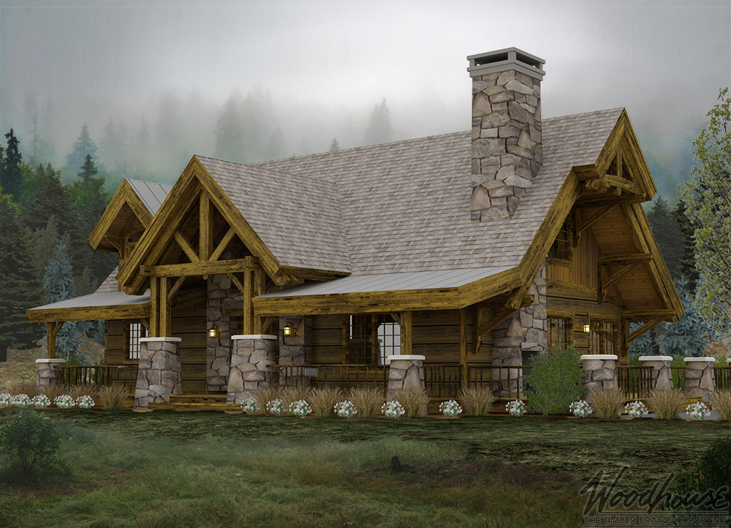 Aspenridge woodhouse the timber frame company for Aspen style home designs