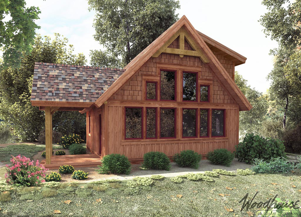 Cedarrun woodhouse the timber frame company for Small timber frame home plans