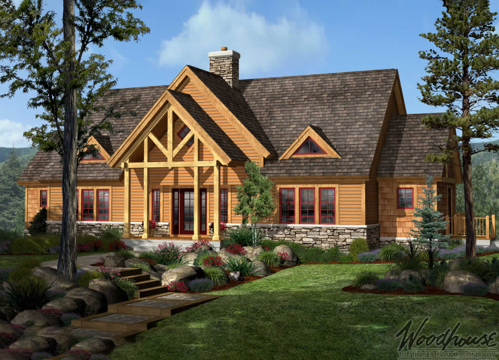 Summitview woodhouse the timber frame company for Adirondack house plans