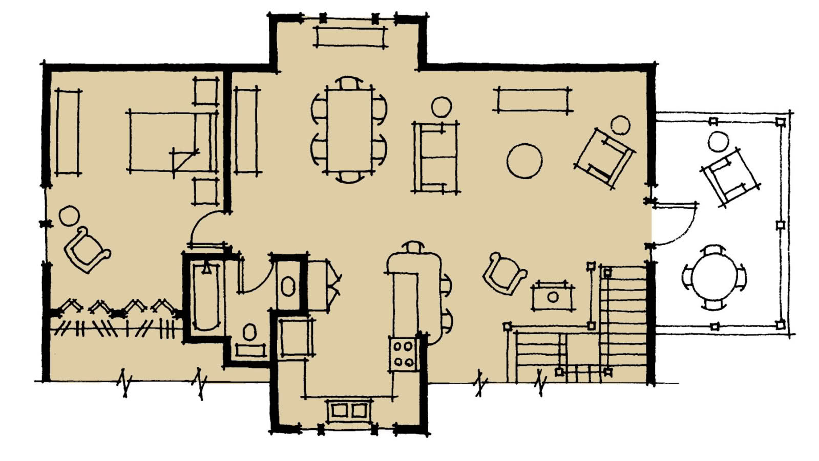 Choosing a timber frame floor plan woodhouse the timber for Timber floor plans