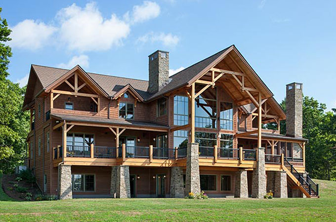 Timber frame home costs woodhouse the timber frame company for A frame home cost